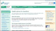 Department of Health Travel Advice